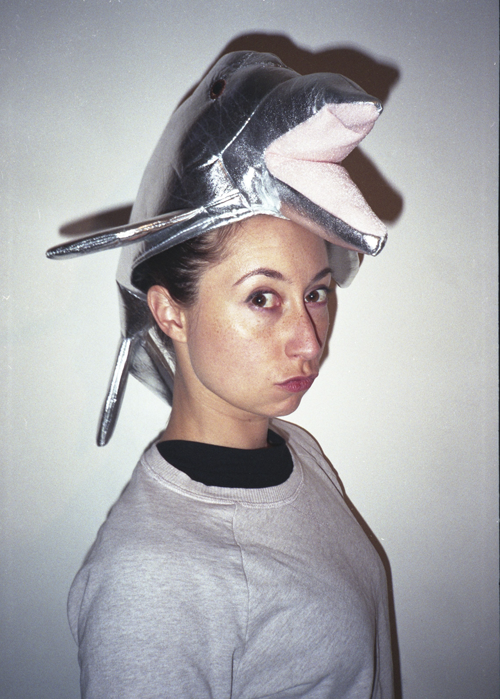 girl with dolphin hat
