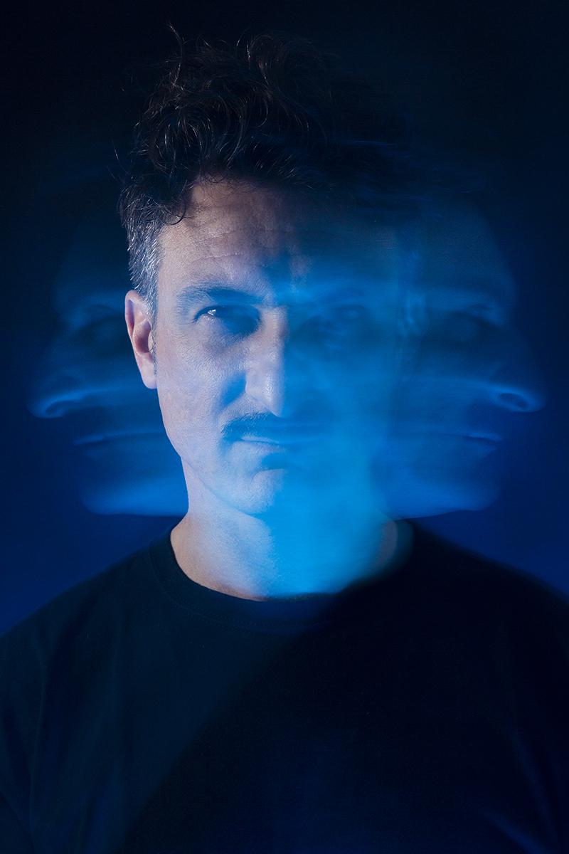 christian effe dj with blue light