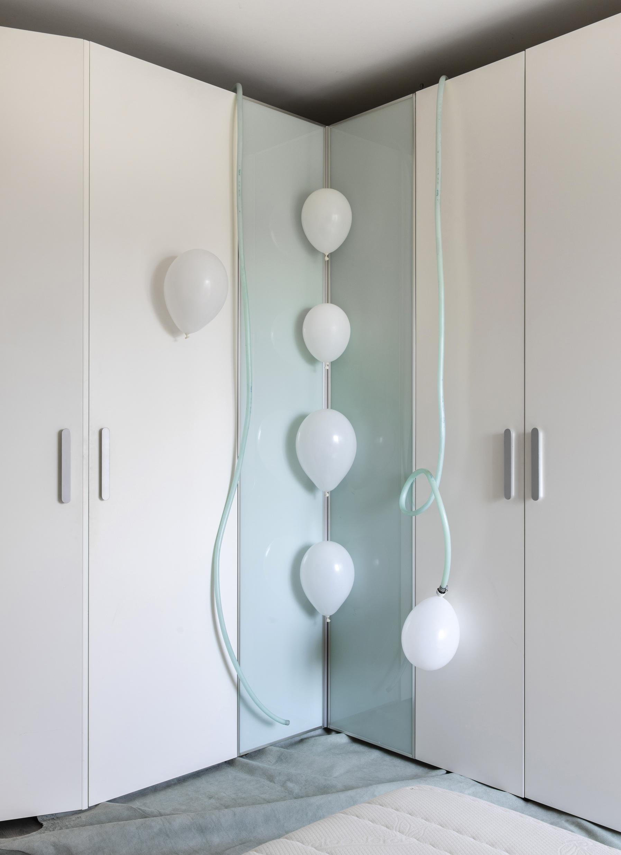 white balloons wardrobe